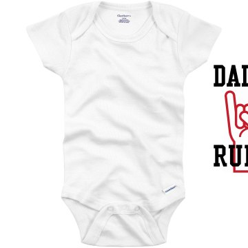 Daddy Rules Onesie Infant Gerber Onesies