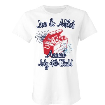 July 4th Bash Tee Junior Fit Bella Sheer Longer Length Rib Tee