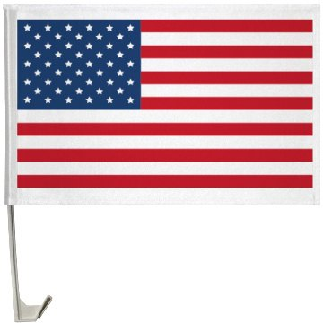 American Flag Pride One-Sided Driver Side Car Flag