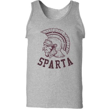 Sparta Distressed Tank Unisex Gildan Ultra Cotton Tank Top