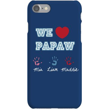 Papaw iPhone Cover Plastic iPhone 5 Case White