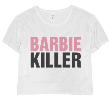 Barbie Killer Misses Bella Flowy Boxy Lightweight Crop Tee