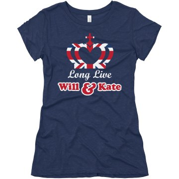 Long Live Will And Kate Junior Fit Bella Triblend Tee