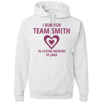 Team Smith Breast Cancer Unisex Hanes Ultimate Cotton Heavyweight Hoodie