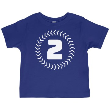 Baby Boy's 2nd Birthday Toddler Gildan Ultra Cotton Crew Neck Tee