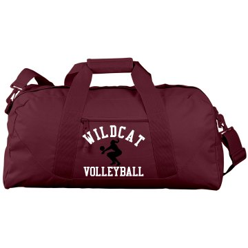 Wildcat Volleyball Port &amp; Company Large Square Duffel Bag