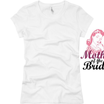 Mother Of Bride 50's Girl Junior Fit Basic Bella Favorite Tee