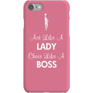 Cheer Like A Boss  Rubber iPhone 4 & 4S Case White