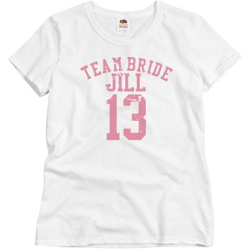 Team Bride Junior Fit Brightline 3/4 Sleeve Jersey Tee