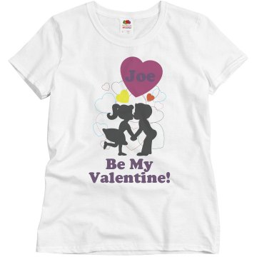 Joe Be My Valentine Misses Relaxed Fit Basic Gildan Ultra Cotton Tee