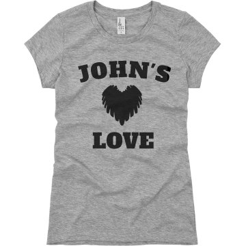 John&#x27;s Love Junior Fit Basic Bella Favorite Tee