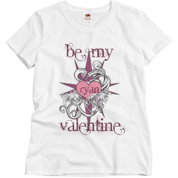 Ryan Be My Valentine Misses Relaxed Fit Basic Gildan Ultra Cotton Tee