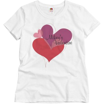 Mikey's Valentine Misses Relaxed Fit Basic Gildan Ultra Cotton Tee