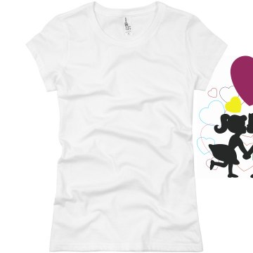 Kissing Couple Junior Fit Basic Bella Favorite Tee