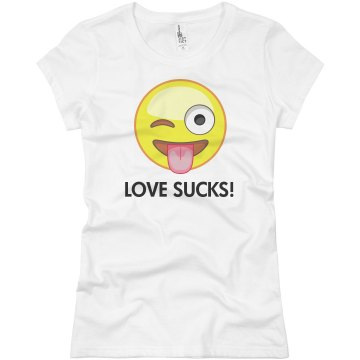 Love Sucks Junior Fit Basic Bella Favorite Tee