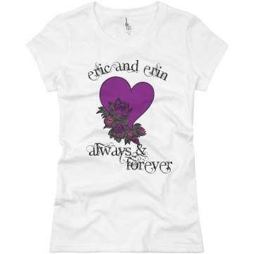 Eric & Erin Valentines Junior Fit Basic Bella Favorite Tee