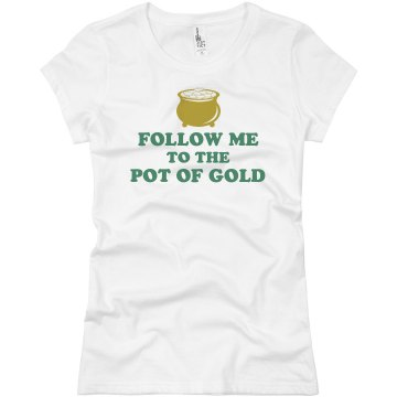 St Patrick's Pot of Gold! Junior Fit Basic Bella Favorite Tee