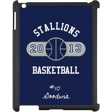 Basketball iPad Case Black iPad Snap-on Case