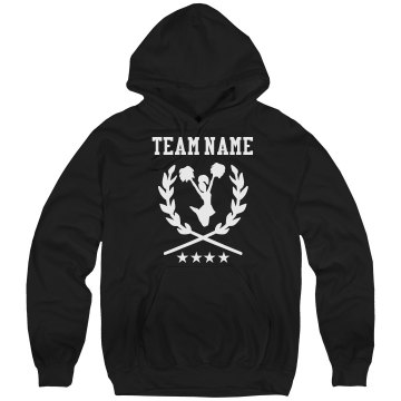 Mustangs Cheer Hoodie Unisex Hanes Ultimate Cotton Heavyweight Hoodie