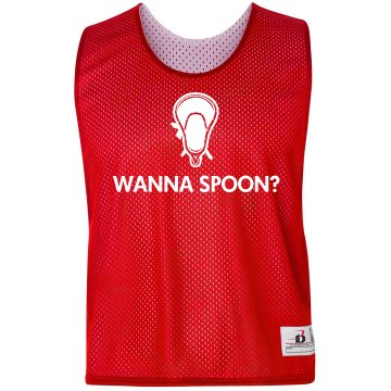 Wanna Spoon? Pinnie Badger Sport Lacrosse Reversible Practice Pinnie