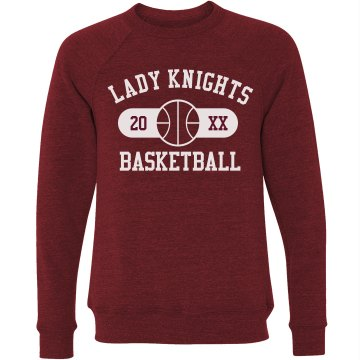 Lady Knights Basketball Unisex Canvas Triblend Crew