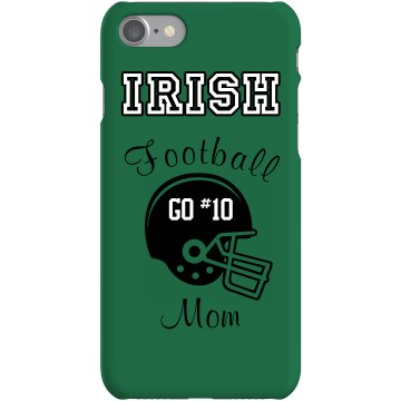 Football Mom iPhone Case Rubber iPhone 4 & 4S Case White