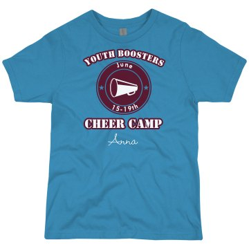 Youth Boosters Cheer Tank Youth Bella Girl 1x1 Rib Tank Top