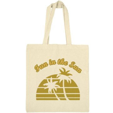 Fun In The Sun Liberty Bags Canvas Bargain Tote Bag