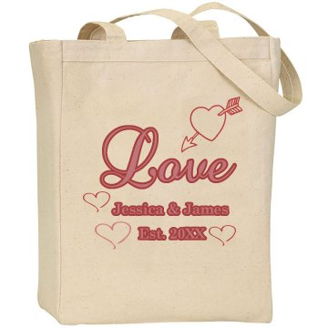 Love Est. 2012 Liberty Bags Canvas Tote