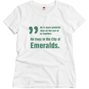 In The City of Emeralds Misses Bella Flowy Lightweight Raglan Tee