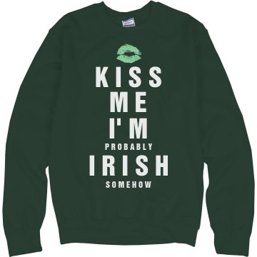 I'm Half Irish Junior Fit Bella 1x1 Rib Ringer Tee