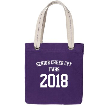 Senior Cheer Bag Port Authority Color Canvas Tote