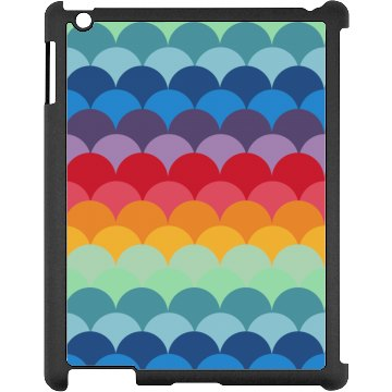 Colorful iPad Case Black iPad Snap-on Case