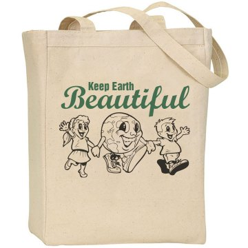 Keep The Earth Beautiful Liberty Bags Canvas Tote