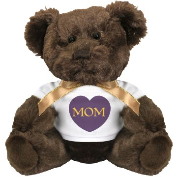 MOM Heart Medium Plush Teddy Bear