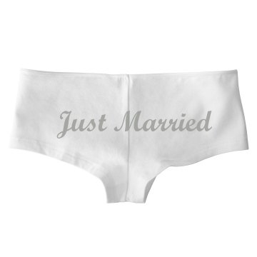 Just Married Undies Bella Hotshort