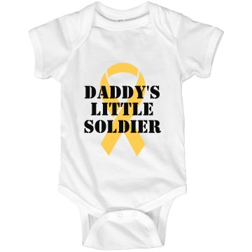 Daddy's Soldier Infant Rabbit Skins Lap Shoulder Creeper