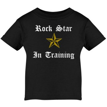 Rock Star In Training Infant Rabbit Skins Lap Shoulder Tee