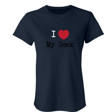 Love My Geek Junior Fit Bella Crewneck Jersey Tee