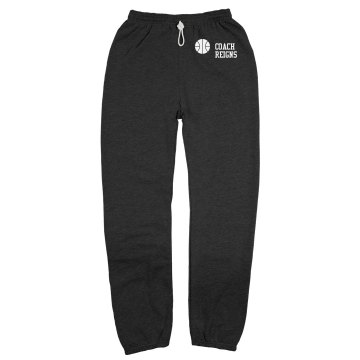 Sports Coach Sweats Unisex Gildan Ultra Blend Open Bottom Pocketed Sweatpants
