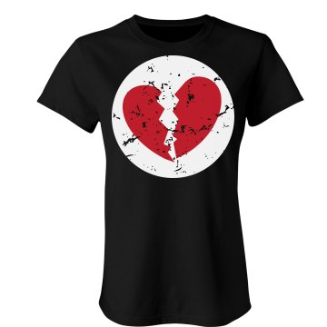 Broken Heart-A-Lot Bear Junior Fit Bella Sheer Longer Length Rib Tee