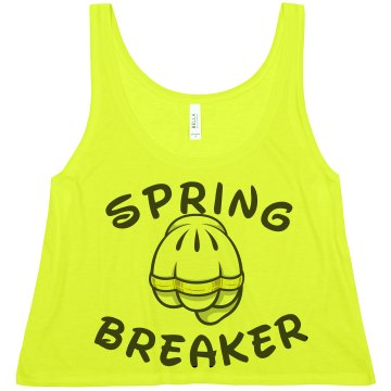 Spring Breaker Glove Misses American Apparel Neon Oversized Crop Tank