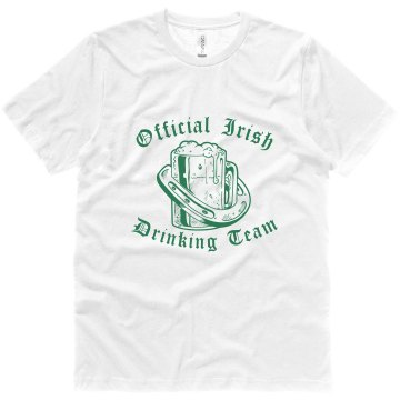 Irish Drinking Team Unisex Canvas Jersey Tee