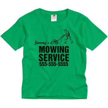 Youth Mowing Service Youth Gildan Ultra Cotton Crew Neck Tee