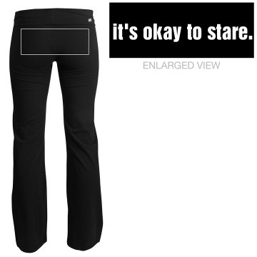 It&#x27;s Okay to Stare Yoga Junior Fit Soffe Yoga Pants