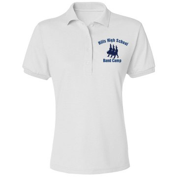 Band Camp Polo Junior Fit Bella Mini Pique Polo