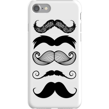 Multi-stache iPhone Case Plastic iPhone 5 Case White