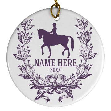 Horse Lover Ornament Porcelain Circle Ornament