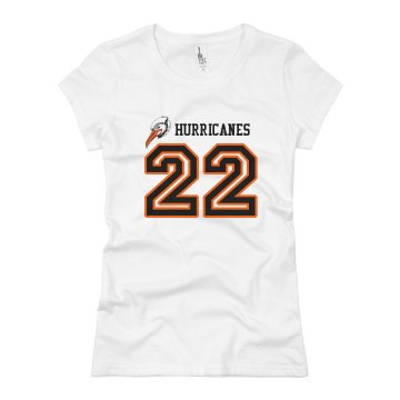 Hurricanes Junior Fit Basic Bella Favorite Tee