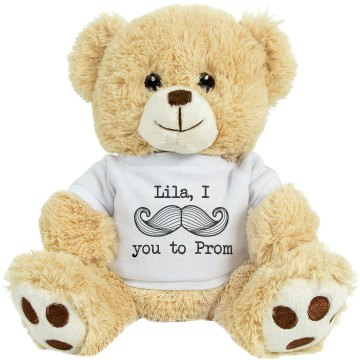 Mustache Prom Bear Medium Plush Teddy Bear
